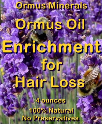Ormus Minerals -Ormus Enrichment for Hiair Loss