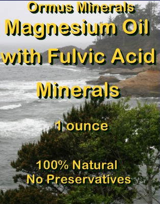 Ormus Minerals -Magnesium Oil with Fulvic Acid Minerals